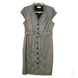 Calvin Klein Button Up Belted Dress Size 12